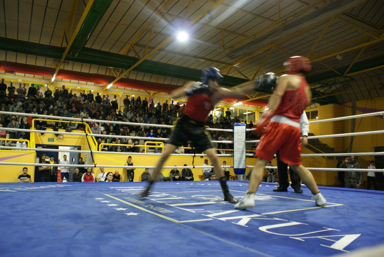 Combate de boxeo amateur de los campeonatos de Bizkaia f