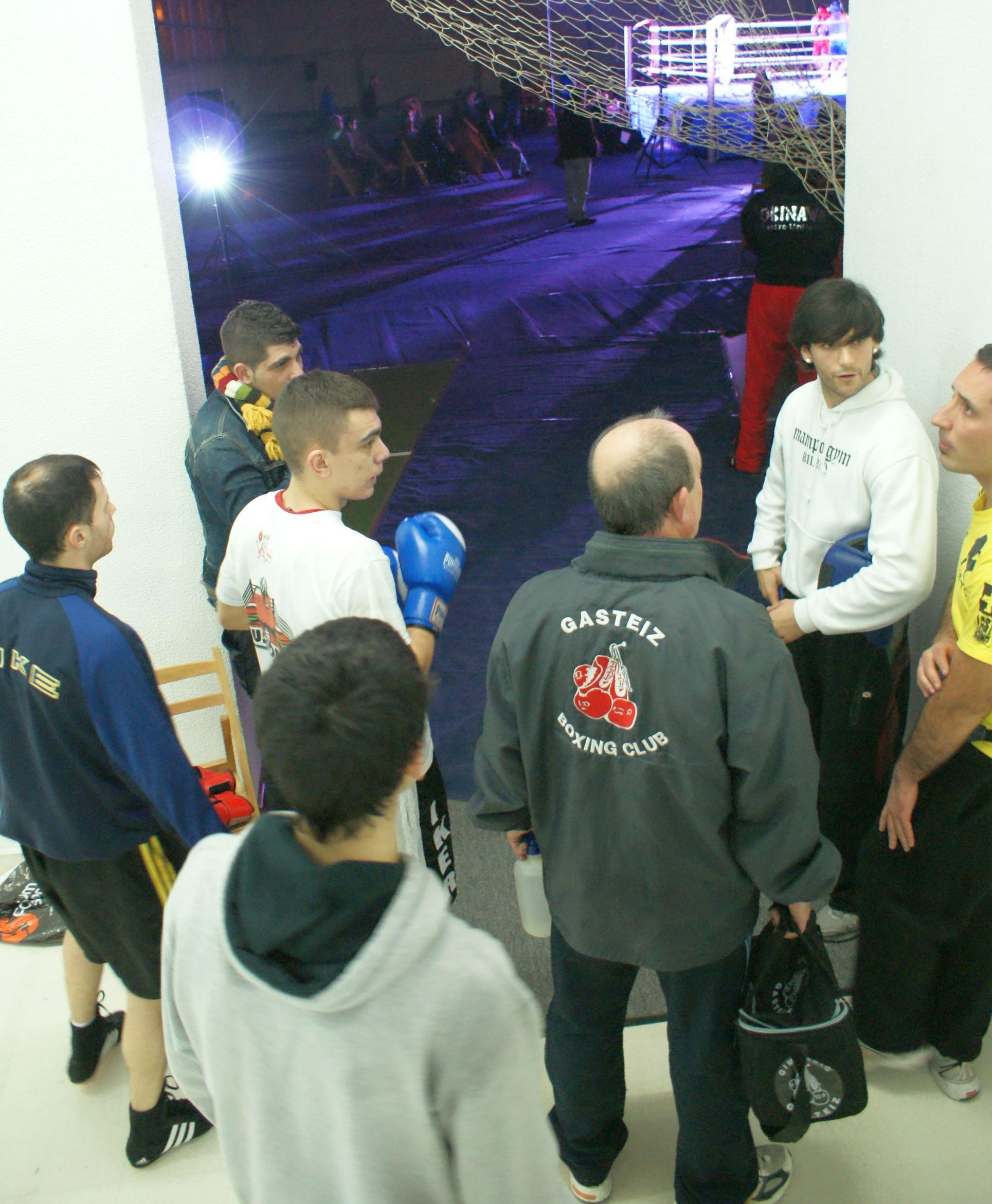 Boxeo Campeonatos de Bizkaia Zamudio Bilbao Vestuario