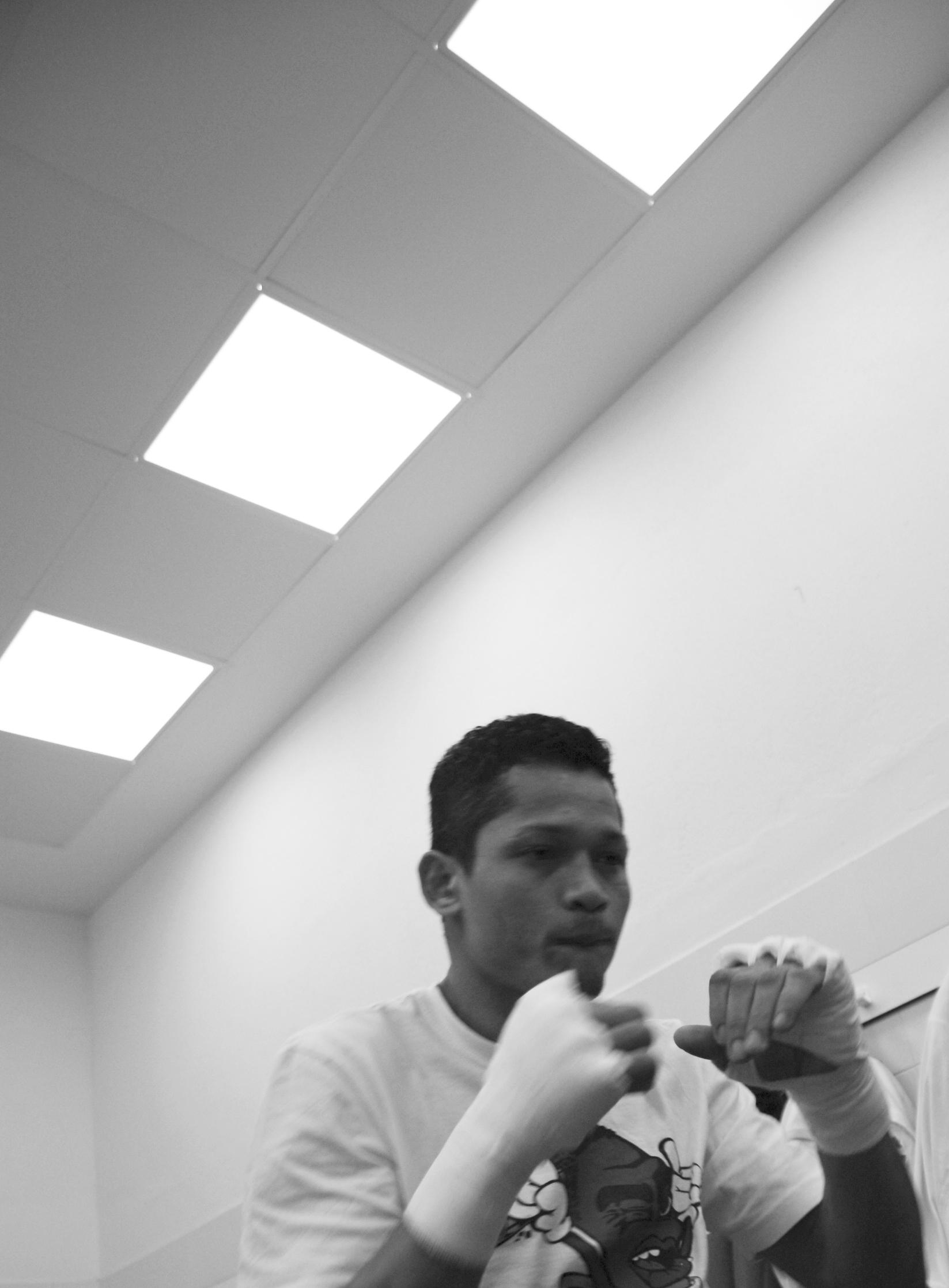 El boxeador Reynaldo Cajina