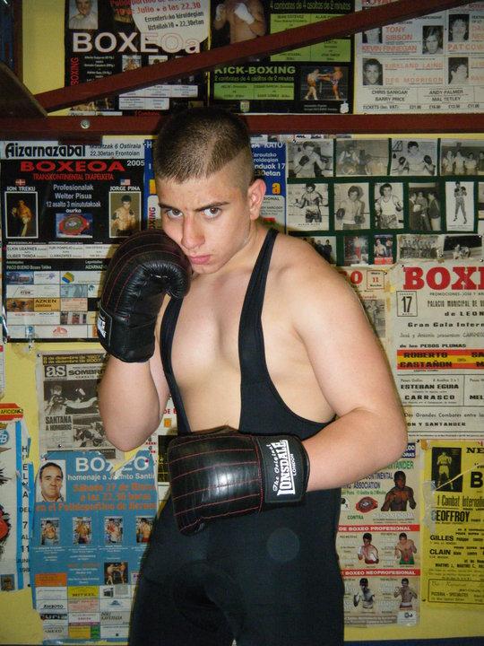 Sebastian Perez, boxeador desde los 8 años. Gipuzkoa