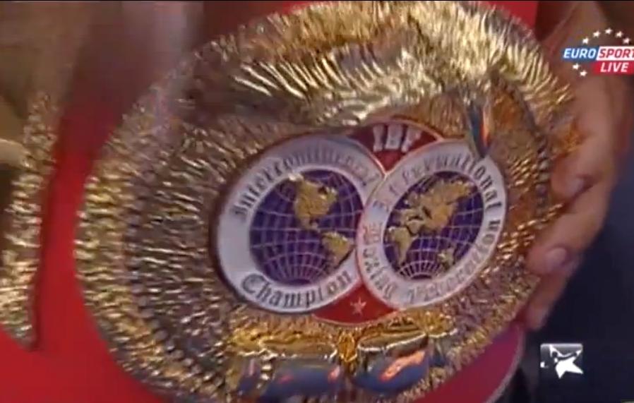 El cinturón de campeón intercontinental de la Federación Internacional de Boxeo