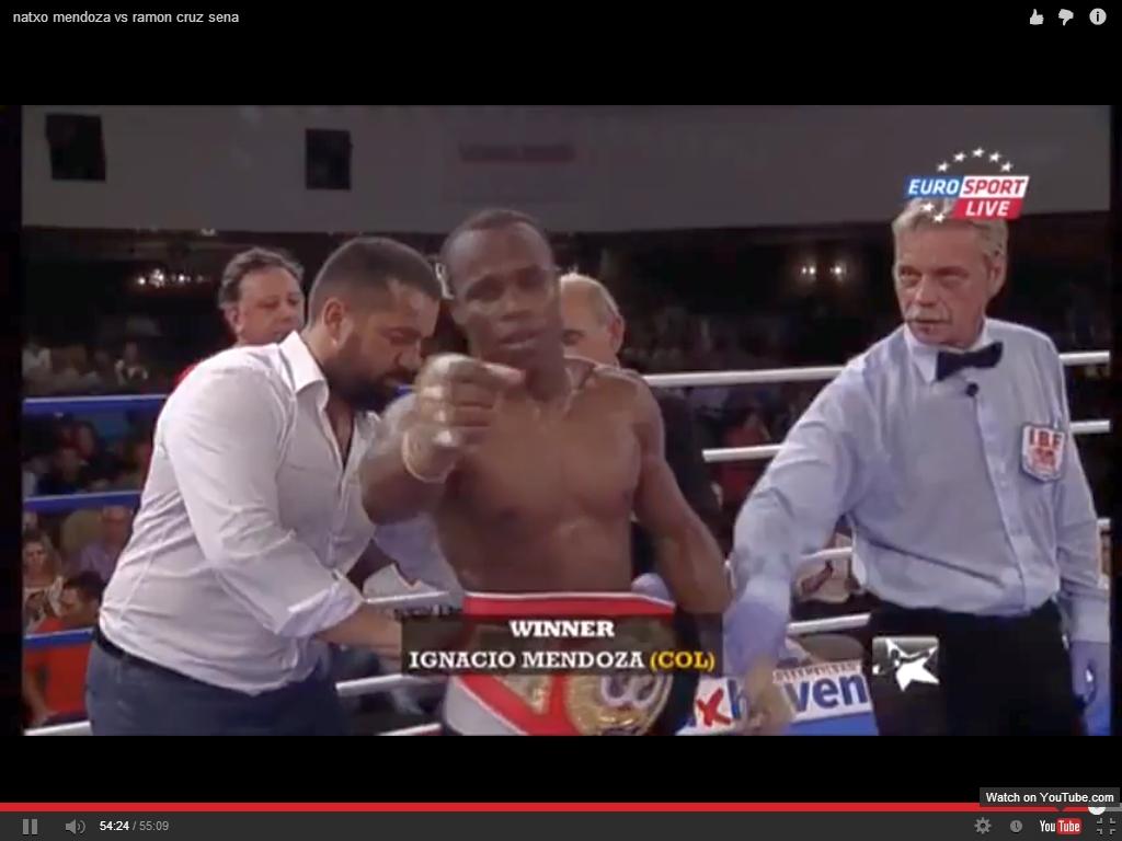 El boxeador profesional Nacho Mendoza proclamado vencedor en Cuxhaven, Alemania