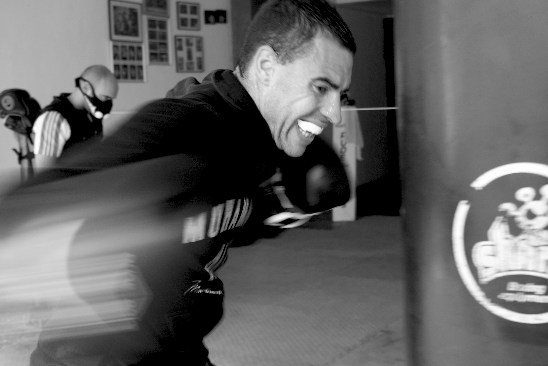 David Larrinaga, subcampeón de España de boxeo olímpico y tres veces campeón de Euskadi en el peso pesado