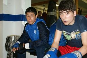 Alin Popa y Christian Garrido, boxeadores amateurs (Gasteiz Sport).