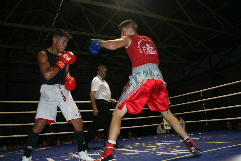 Los boxeadores Kevin Baldospino y Christian Garrido en Miranda de Ebro