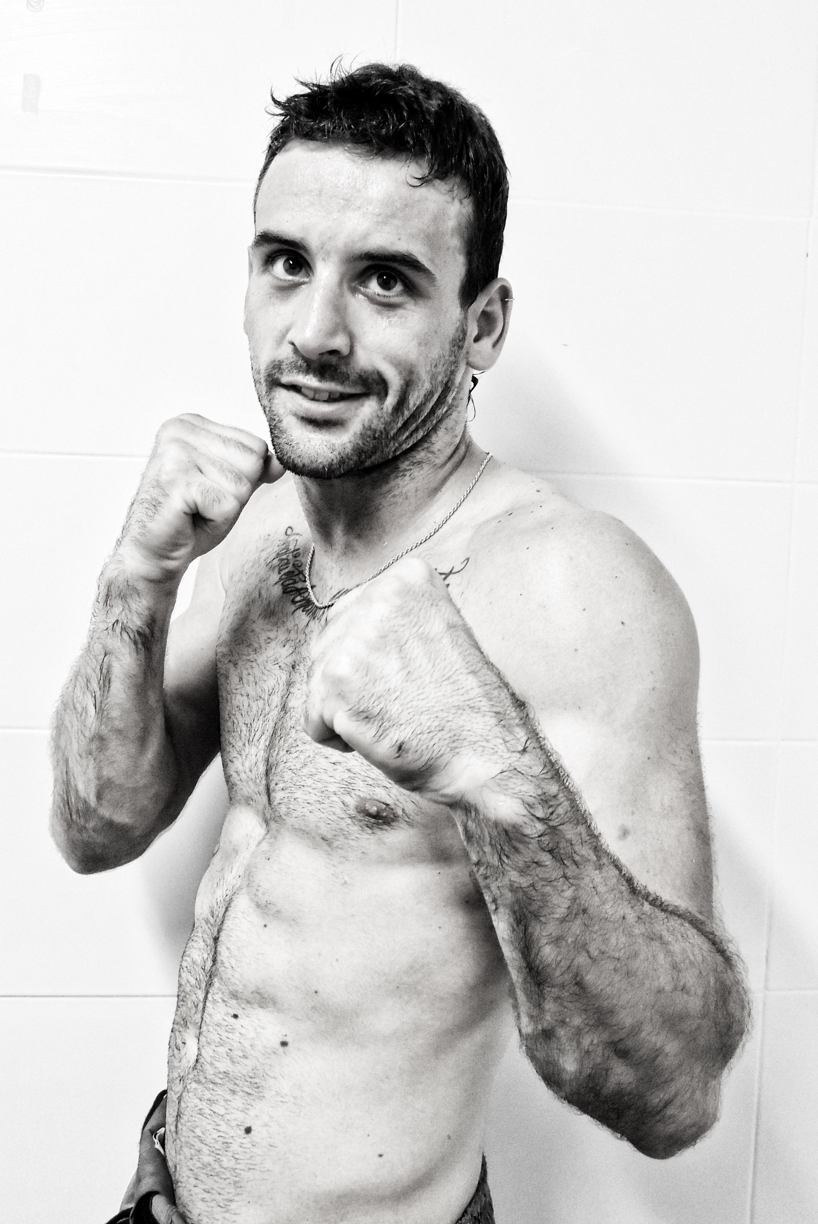 Aritz López de Lacalle, luchador de K1, Bilbao.