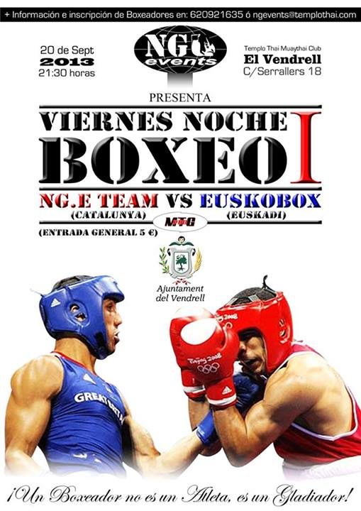Cartel para velada de boxeo amateur en Barcelona