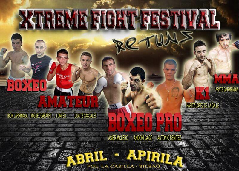 Andoni Gago reaparece el 5 de abril de 2014 en La Casilla (Bilbao) en un gran evento de deportes de contacto