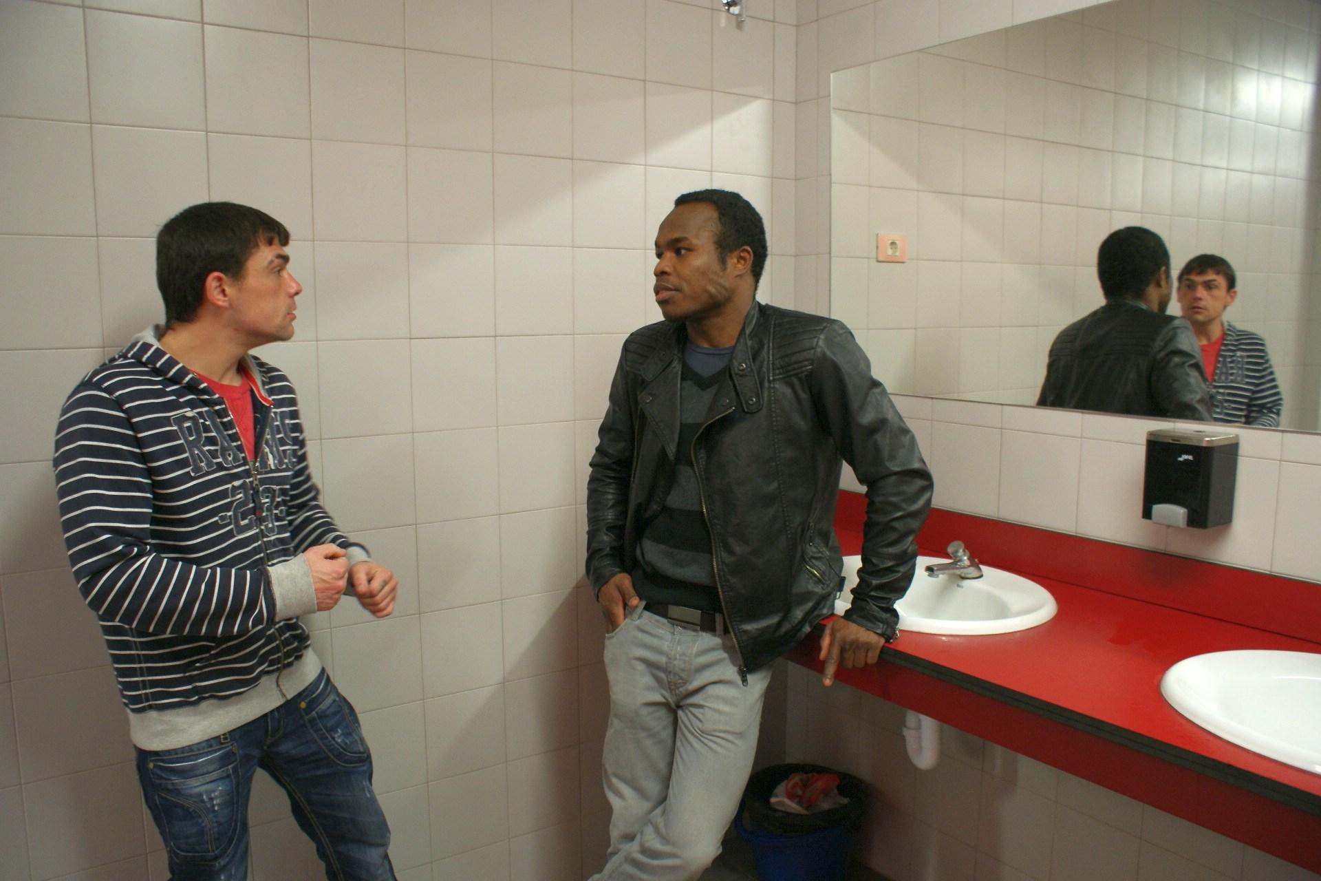 Los boxeadores profesionales Andoni Gago y Nacho Mendoza