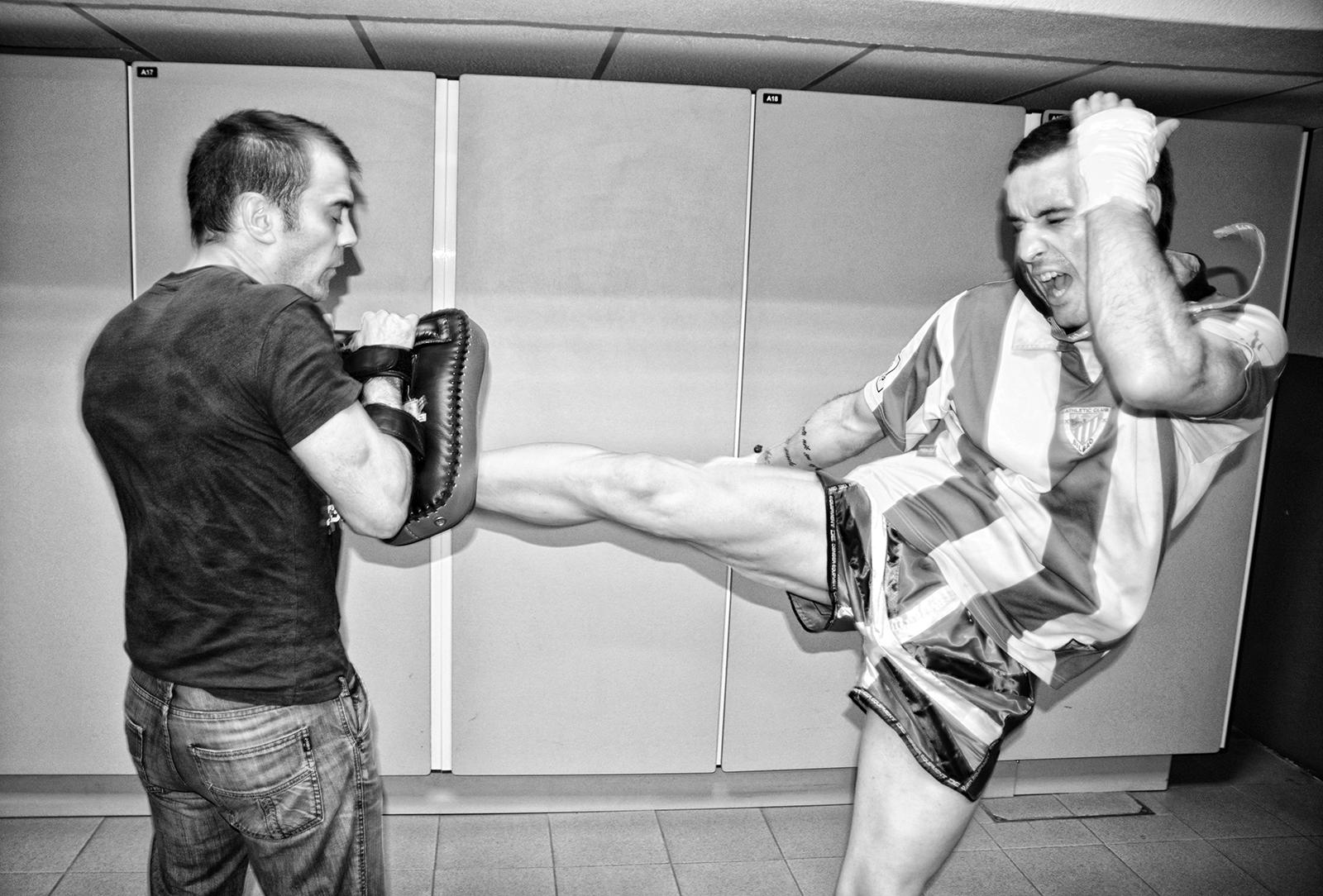El luchador de K1 erandiaotarra, Haritz López de Lacalle