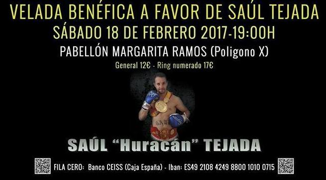 Cartel de la velada a beneficio del boxeador profesional Saúl Tejada