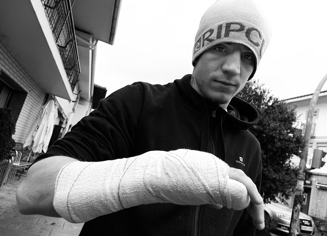 """El """"Revolver"""", en Morga el pasado viernes, satisfecho con su recuperación y muy agradecido al equipo médico que le operó. (FOTO, IÑAKI MENDIZABAL)"""