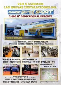 Boxeo: Cartel informativo sobre el nuevo Gasteiz Sport que rige José Luis Celaya