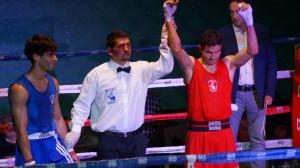 Boxeo: Henry Siles en el momento de su proclamación como Campeón de Euskadi