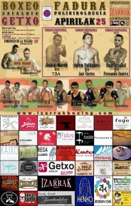 Cartel para velada de boxeo profesional en Getxo, Bizkaia