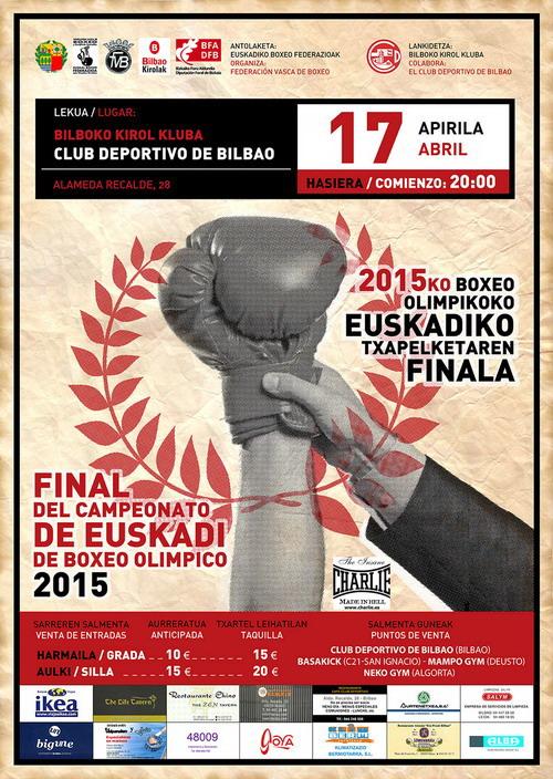 Boxeo: Cartel de Campeonato Euskadi 2015