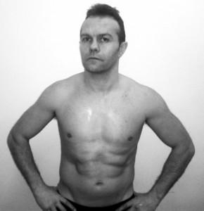 El boxeador profesional Juanal Martín, el primer admirador de su hermano pequeño, Andoni Gago.