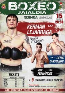 Cartel para la velada de boxeo profesional de Gernika