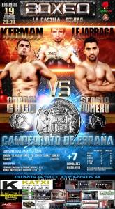 Cartel para velada de boxeo profesional en Bilbao