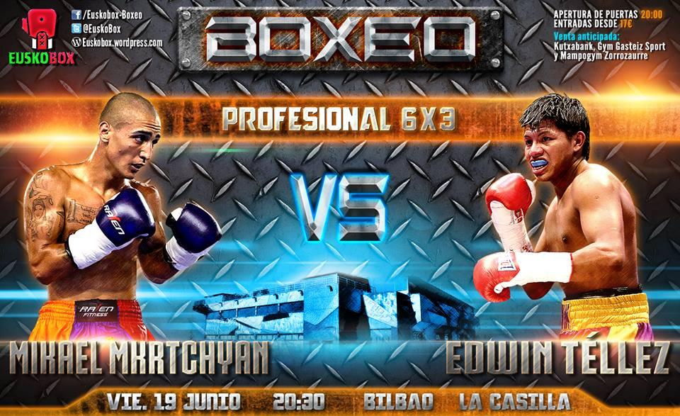 Boxeo profesional: material promocional para el Micha contra Téllez de Bilbao