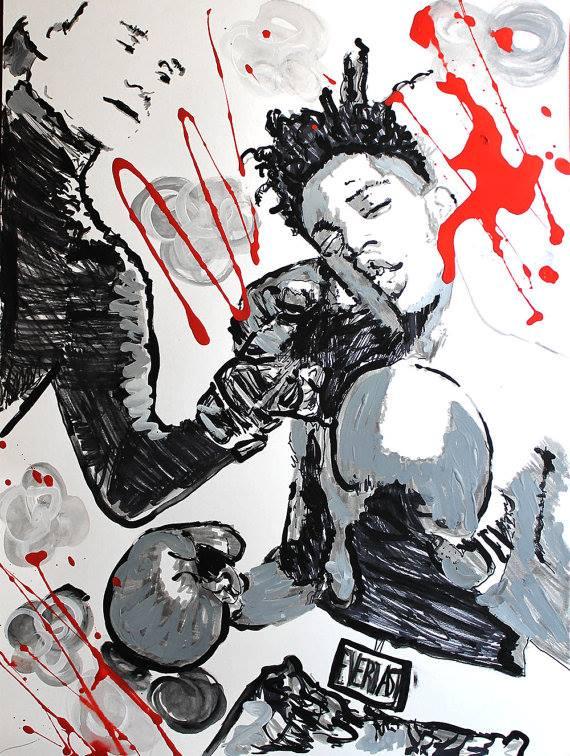 Obra de Basquiat inspirada en el boxeo