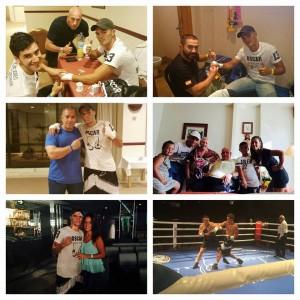 Boxeo profesional: Antonio Benítez, antes, después y durante el combate del pasado viernes ante Isco Durán en el Casino Torrequebrada