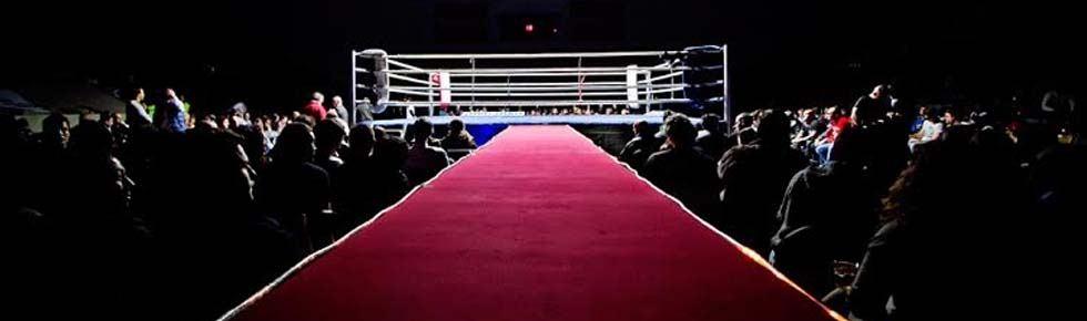 Boxeo profesional en Bilbao: el ring dispuesto en La Casilla