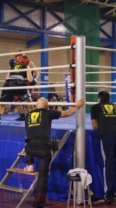 Un momento de la velada de boxeo del año pasado en el Pabellón del Ebro