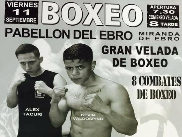 Ocho interesantes combates de boxeo profesional en Miranda de Ebro el viernes 11 de septiembre