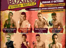 Cartel de la velada de boxeo del 17 de octubre de 2015 en Vitoria-Gasteiz