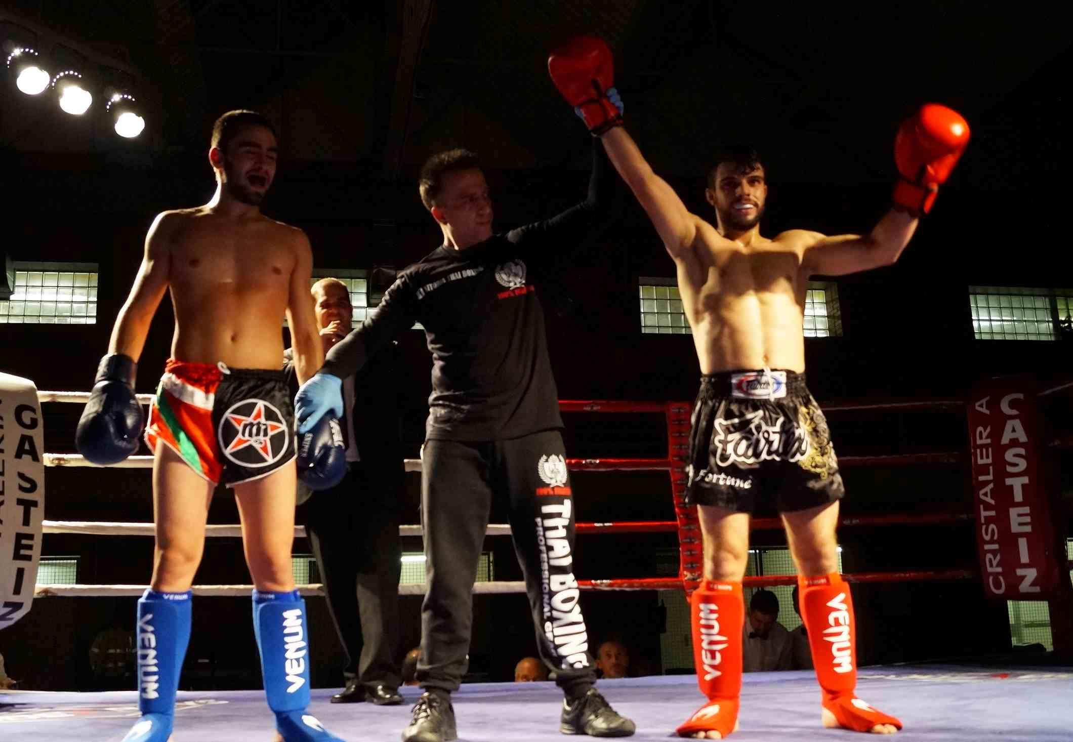 Ander Sánchez es proclamado ganador del combate de Kick-Boxing en la velada celebrada en Judimendi el pasado mes de noviembre