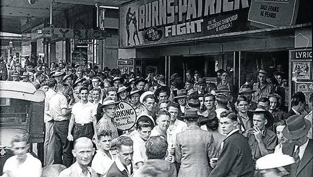 Ambiente boxístico en Australia mediados los años 50 del siglo XX