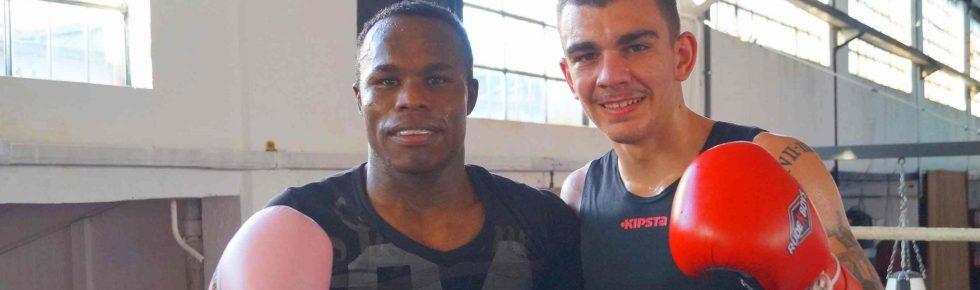 Los boxeadores profesionales Nacho Mendoza y Jon Fernández
