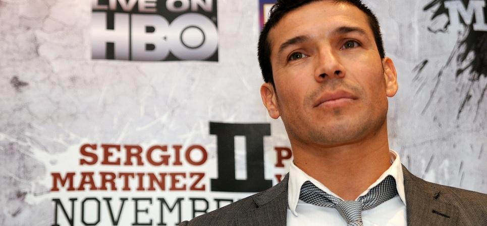 El excampeón mundial Sergio Martínez supervisará esta tarde una sesión de sparring del boxeador vizcaíno Jon Fernández