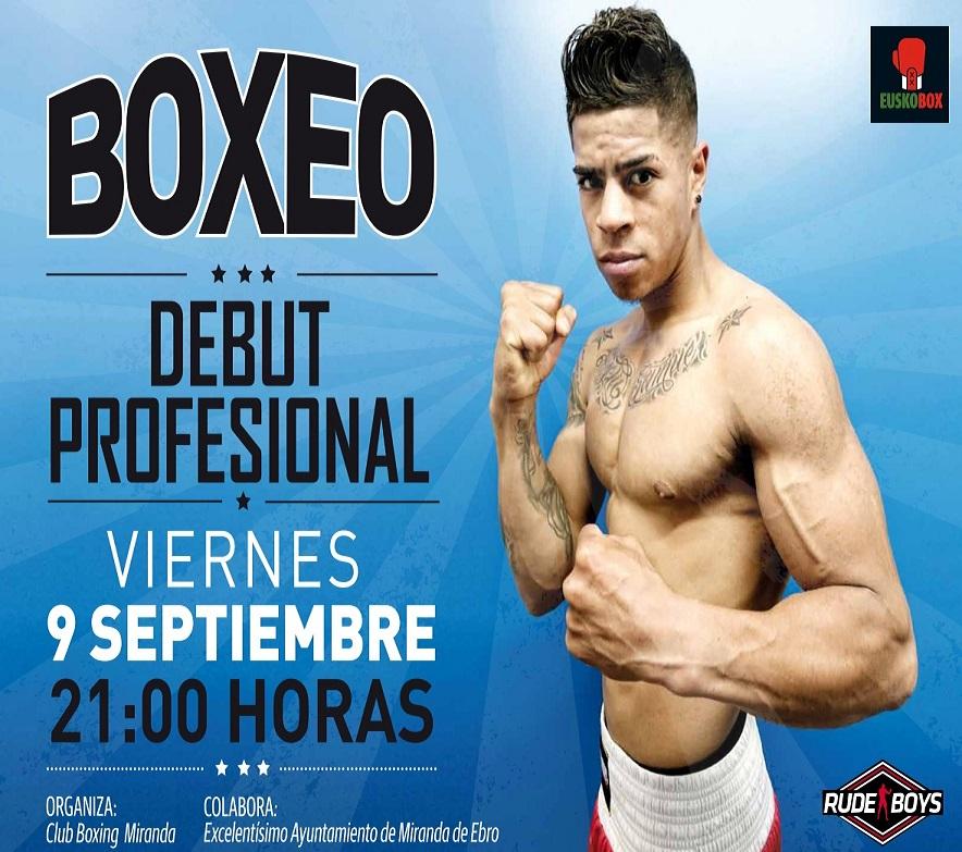 El boxeador de Miranda, Kevin Baldospino, debutará como profesional el próximo 9 de septiembre en la velada de boxeo del Pabellón del Ebro