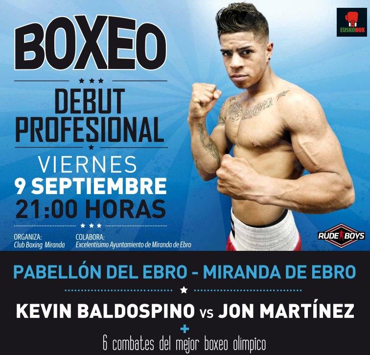 El boxeador de Miranda de Ebro debuta como profesional el 9 de septiembre en Miranda ante bilbaino Jon Martínez