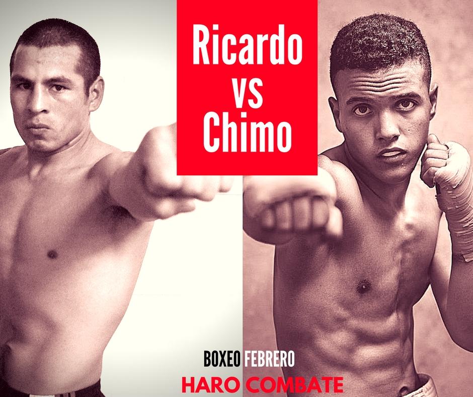 Cartel de boxeo combate Ricardo Fernández contra Chimo Eddine el 4 de febrero en Haro La Rioja