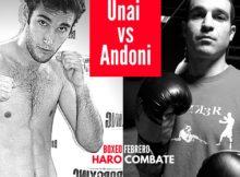 Cartel boxeo, Andoni Domínguez vs Unai Latorre en Haro