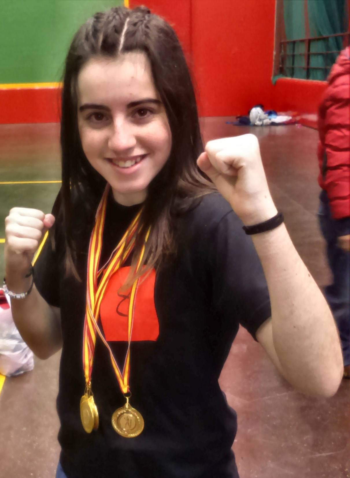 Zuriñe Franco, boxeadora gasteiztarra