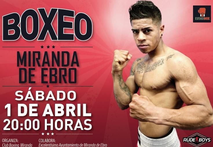 Cartel de boxeo 1 de abril en Miranda de Ebro