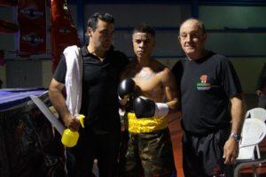 Kevin Baldospino con Berrio y Celaya en Miranda