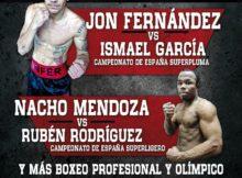 Cartel velada de boxeo del 21 de abril en Bilbao Arena