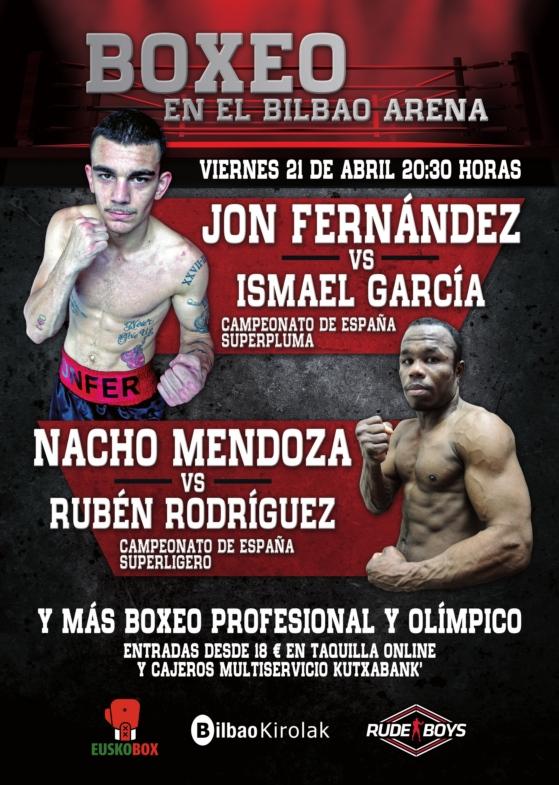 Cartel de velada de boxeo profesional en el Bilbao Arena