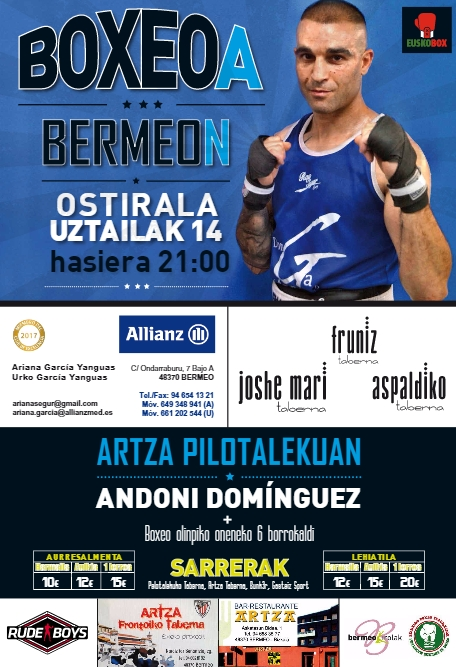 Boxeo en Bermeo el 14 de julio