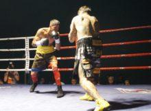 Kevin Baldospino y Dani Calzado sobre el ring de Ordizia