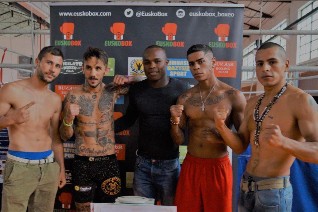 Los boxeadores profesionales que combaten esta noche en Ordizia