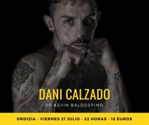 El boxeador Dani Calzado, en Ordizia