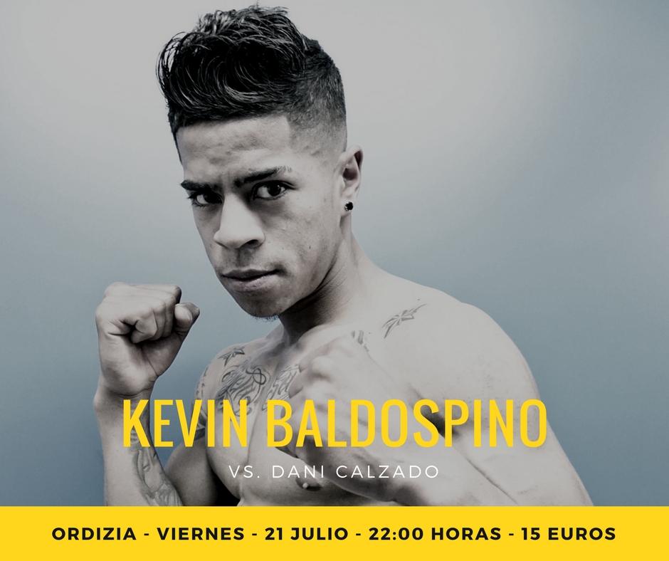 Kevin Baldospino boxea en Ordizia