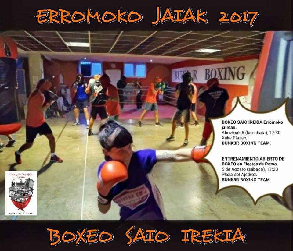 Boxeo: entrenamiento público en Romo, Getxo