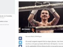 El boxeador vizcaíno Jon Fernández, entrevistado por Ricardo Pilatti para ESPn digital
